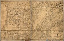 Poster Print Antique American Military Map Tennessee