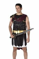 Mens Deluxe Roman Soldier Gladiator Adult Fancy Dress Costume Stag Party Outfit