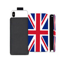 Union Jack Flag Printed Pull Tab Pouch Case for Apple iPhone Models - 0228