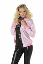 Ladies Deluxe 50s Pink Lady Jacket 1950s Fancy Dress Hen Party Costume Outfit