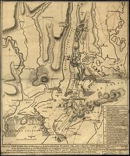 Poster Print Antique American Military Map Hudson