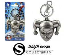 Official DC Comics Harley Quinn Head Pewter Keyring Keychain Gotham City Retro