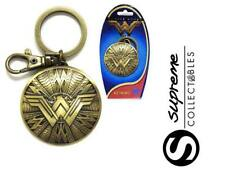 Official DC Comics Wonder Woman Shield Logo Pewter Keyring Keychain Bronze New