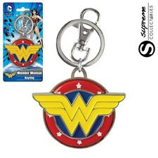 Official DC Comics Wonder Woman WW Colour Logo Pewter Keyring Keychain New