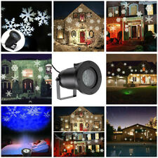 Snowflake Moving Sparkling LED Landscape Laser Projector Outdoor Xmas Light Lamp