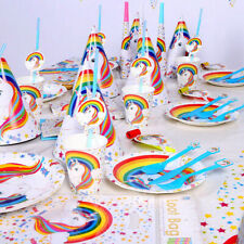 UNICORN Birthday Supplies PARTY SET RANGE CUP Plate Napkins Table cover BALLOON