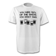 FUNNY YOU MISS 100% OF THE SHOTS YOU DON'T TAKE T-SHIRT SIZE'S S-XL NEW
