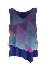 DESIGUAL BLUSA DONNA BLUS CLUB DE BLUES 18SWBWB8