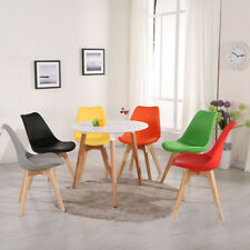 Dining Tulip Chair Eiffel Style Soft Pad Seat Solid Wood Leg beautiful Colour