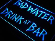 Bad Water Drink at Bar LED Neon Light Sign