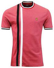 Wigan Casino Crew Neck T Shirt - Blood Red, Racing Stripe, Northern Soul, Mod,