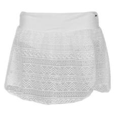 LADIES WOMENS WHITE SOULCAL LACE SWIM SKIRT BEACH SWIMMING POOL BIKINI BOTTOMS