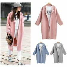 Women Winter Warm Outwear Wool Long Slim Trench Parka Coat Jacket Overcoat DS