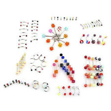 105pcs Bar Nail Piercing Navel Nose Ears Jewelry Multicolored B4L8