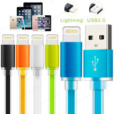 Flat Lightning USB FAST Charger Data Cable Lead for iPhone 5 5c 5s SE 6s 6 7 8 X