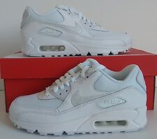 Nike Air Max 90 Mesh GS White/White/Grey Trainers Size 5 UK 724824 100