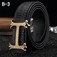 "MENS CASUAL  BELTS REVERSIBLE DOUBLE SIDED METAL BUCKLE  MENS BELT SIZES 32""-48"""
