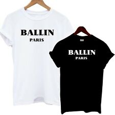 Ballin Paris T Shirt Top Slouch Dope Swag Hype Fashion Tumblr Hipster Celine Tee