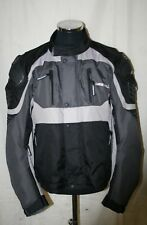 LOOKWELL CORDURA MOTORCYCLE TOURING JACKET - BLACK/GREY , RED/BLACK/WHITE