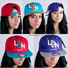 London CAPPELLO SNAPBACK,BASEBALL NY,VISIERA PIATTA Cappelli,Hip Hop diamante