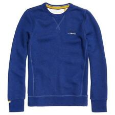 Superdry Mens Vintage Orange Label Crew Sweatshirt - Sonic Blue Ship Worldwide