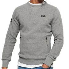 Superdry Mens Orange Label Urban Crew Sweatshirt Hammer Grey Ship Worldwide
