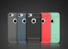 Rugged Slim Fit Shockproof Carbon Fiber Case Cover For iPhone 6s 7 8 Plus X SE