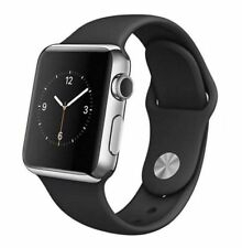 Apple Watch 1st Gen 38mm 42mm Stainless Steel Case - Space Black Sport Band