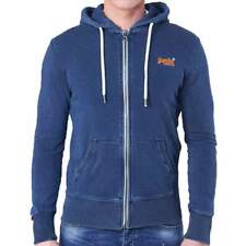Superdry Mens Orange Label Lite Light Marine Indigo Hoodie Ship Worldwide
