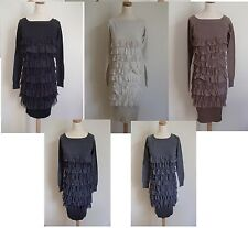 LOT 6 Robes pull courte manches longues frou frou dentelle neuf 36/38 ladydjou