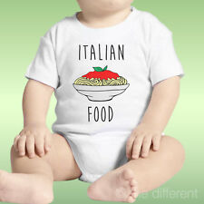 Body Neonato Unisex Spaghetti Italian Food Idea Regalo