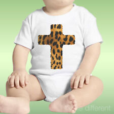 Body Neonato Unisex Croce Leopardata  Idea Regalo