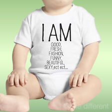 Body Neonato Unisex Scritta I Am Good Fresh Fashion Funny Beautiful Idea Regalo