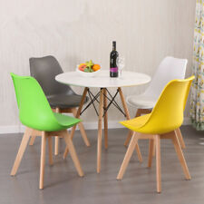 Panana Dining Tulip Chair Eiffel Style Soft Pad Seat Solid Wood Leg Colourful