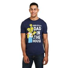The Simpsons - GREATEST DAD IN THE HOUSE - Homer Simpson Family Mens T-Shirt
