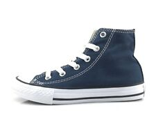 Converse 3J233 All star Hi Canvas scarpa bambino stringata in tessuto blu