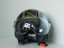 AFX Fx 33 Veloce Scooter Mate Negro/Oro Casco Jet Patinete Scooter