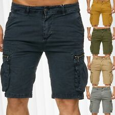 HOMME CHINO SHORTS CARGO JEANS STRETCH court pantacourt pantalon CAPRI été
