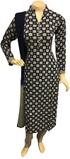 Indian Pakistani Printed Cotton Trouser Suit, Stitched Shalwar Kameez Salwar