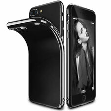 Cubierta Protectora Negro Ultra Delgado Silicón para Apple iPhone 8 7 6s Plus