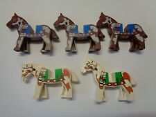 LEGO Minifig ANIMAL cheval horse choose model (4493) Abimé, rayé et jaunie