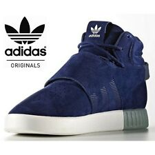 Adidas Originals Tubular Invader Strap Mens Trainers Core Blue Yeezy style SALE