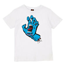 T-Shirt Santa Cruz Youth Screaming Hand White - Ragazzo