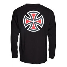 T-shirt Independent Longsleeve Bar Cross Black - Maglia a maniche lunghe