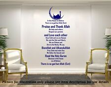 Islamic House rules - Quote Islamic Vinyl wall Stickers Muslim Home decor Decals