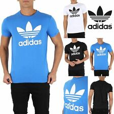 Mens Adidas Rich Cotton Originals Trefoil T Short Sleeve Crew Neck T-Shirt Top