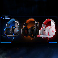 EACH G2000 Pro Game Gaming Headset 3.5mm LED Stereo PC Headphone Microphone OE