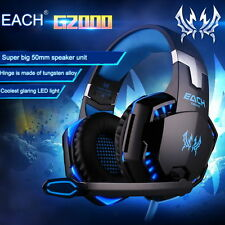 EACH G2000 Pro Game Gaming Headset 3.5mm LED Stereo PC Headphone w/ Microphone E