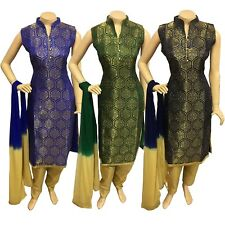 Indian Pakistani Taffeta Silk Trouser Suit Dress, Stitched Shalwar Kameez Salwar