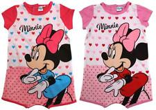 Girls Baby Playsuit Disney Minnie Mouse Hearts Cotton Romper 6 to 24 Months
